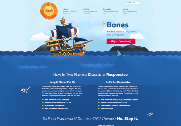 Blank & Bare WordPress HTML5 Frameworks