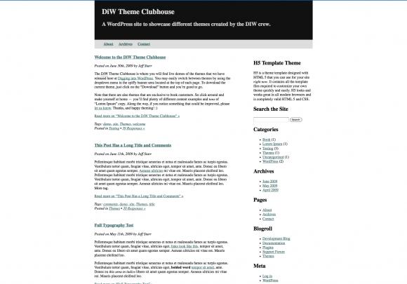 Blank & Bare WordPress HTML5 Frameworks