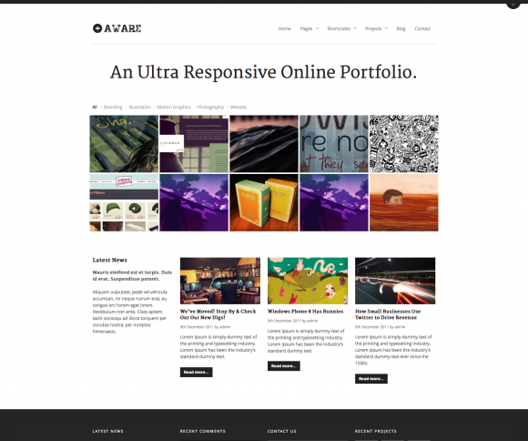 20 Responsive WordPress Portfolio Themes
