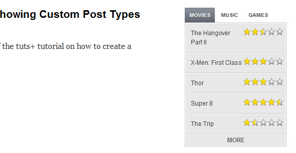 Creating a Tabbed Widget for Custom Post Types