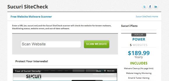 Sucuri SiteCheck