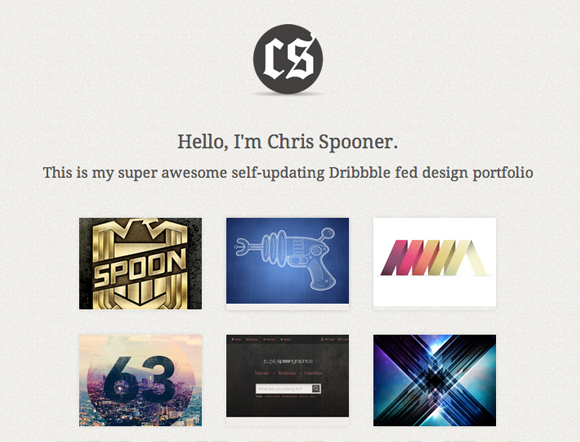 Build a Basic Dribbble Fed Portfolio Website