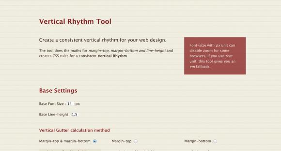 Vertical Rhythm Tool