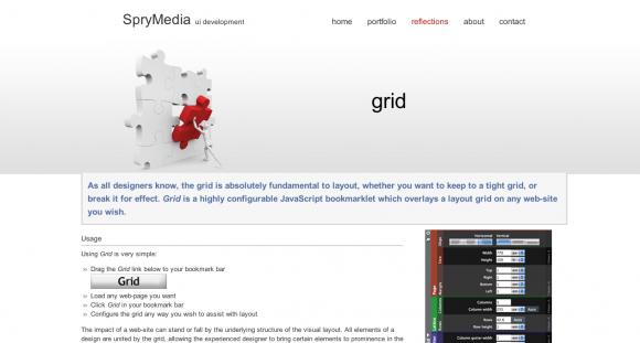 Grid - A JS Bookmarklet