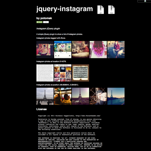 10 Handy jQuery Instagram Plugins