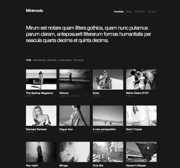 Minimodo - A Minimalistic WordPress Portfolio