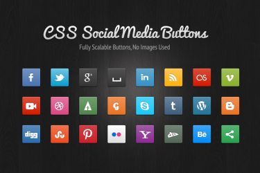 A Collection Of Stylish & Free Social Media Icons