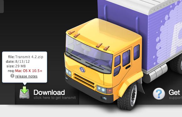 panic mac osx app transmit webpage tooltips design