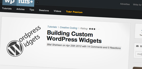Building Custom WordPress Widgets