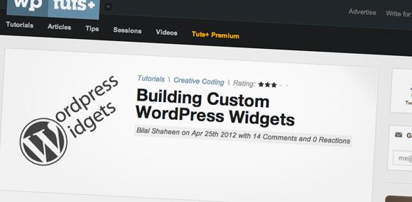 Building Custom WordPress Widgets
