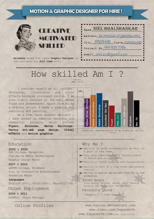 Resume Inspiration: 30 Super Cool & Creative Resume Designs