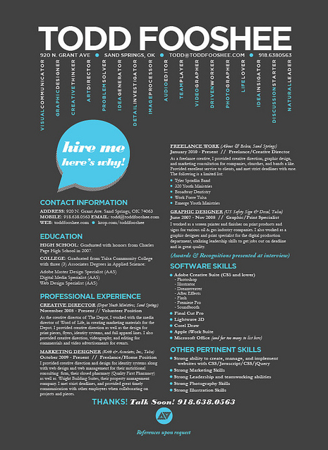 inspiration 30 super cool creative resume designs