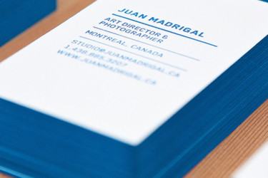 30 Cool Thick Edge Painted Business Cards