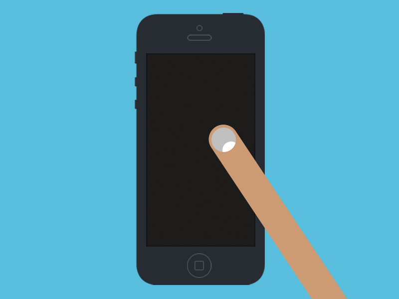 Handy \'Flat Design\' iPhone / iPad UI Templates