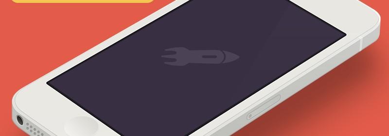 Handy 'Flat Design' iPhone / iPad UI Templates