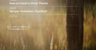 10 New Ghost Themes