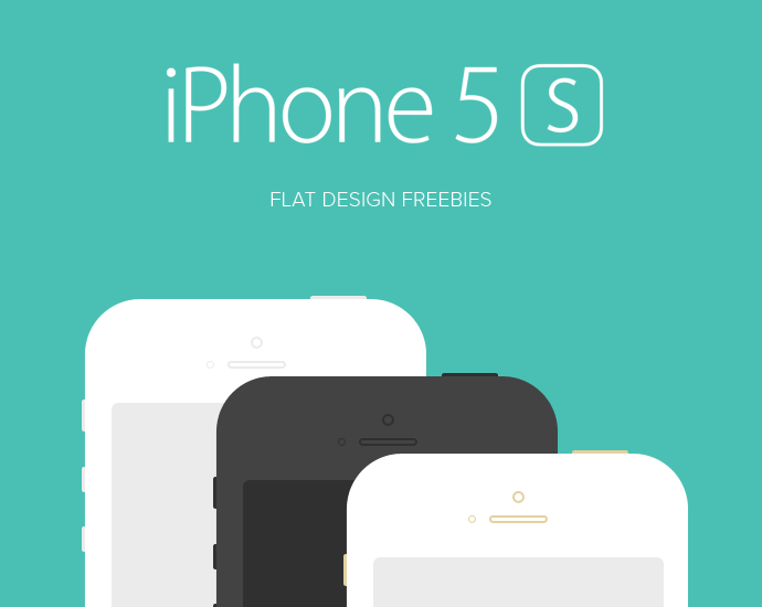 A Handy Collection Of iPhone 5s PSD Templates