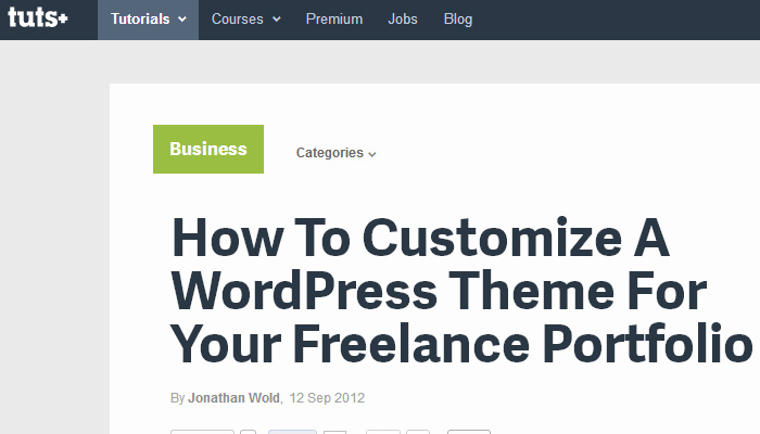 freelance portfolio tutorial howto using wordpress