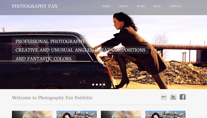 creating website design photography portfolio layout