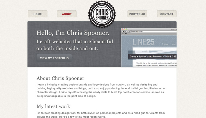 portfolio web design concept howto tutorial chris spooner