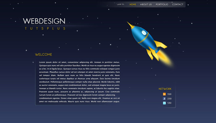 tutsplus tutorial singlepage website layout photoshop mockup