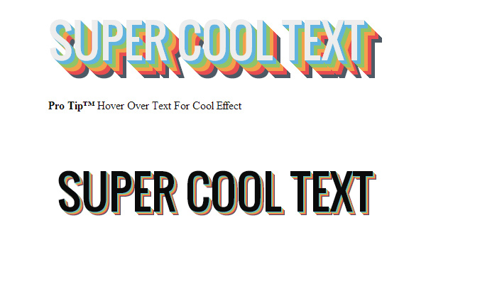css3 hover text effects shadows open source