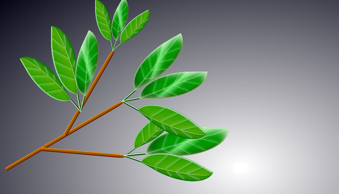 open source tree branch leaves coded in css3