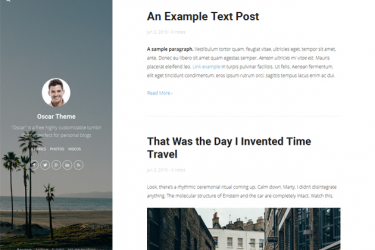 25 Free Tumblr Themes for Personal Blog