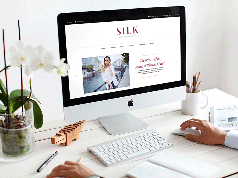 SILK - A Fashion Magazine WordPress Theme