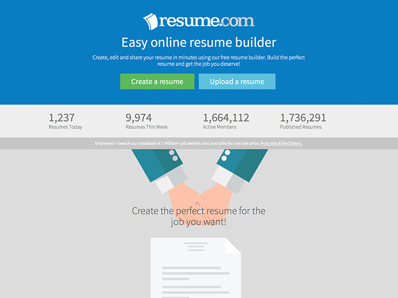 here you can create multiple resumes with excellent designs that will be stored onto your resumecom account you can share it online with other people or - Where Can Employers Search Resumes For Free