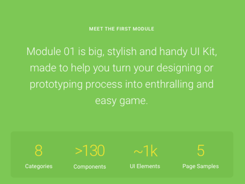 Collection of 30 UI kits for Sketch